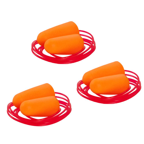 Allen Cases Silencer Foam Corded Ear Plugs 3 Pairs, Orange 2345