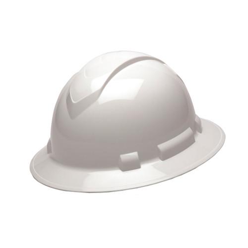 Pyramex Safety Ridgeline Full Brim Hard Hat 4-Point Ratchet White HP54110