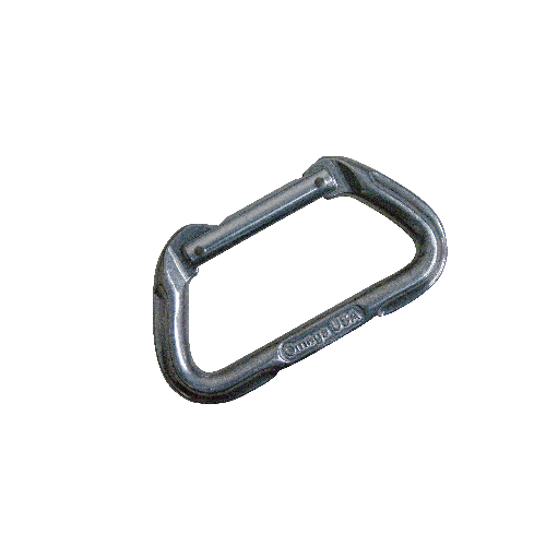 5ive Star Gear Omega Pacific 7000 Series Standard D Straightgate Carabiner 6001000 Silver