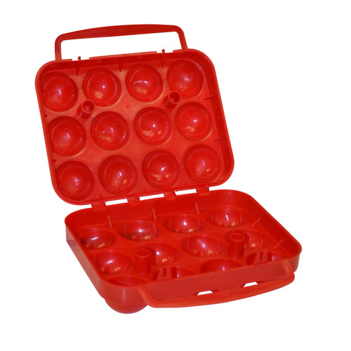 Coleman 12 Count Egg Plastic Container Red 2000014516