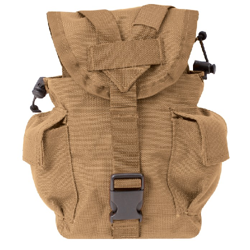 5ive Star Gear M.O.L.L.E. Compatible 1-Quart Canteen/Utility Pouch 6581000 Coyote