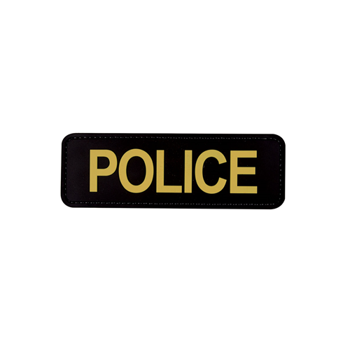 5ive Star Gear Police Morale Patch 6620000 Black Gold 6in. x 2in.