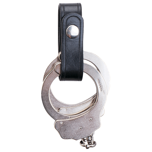 Aker Leather 504 1  Wide Handcuff Strap A504-BP Plain