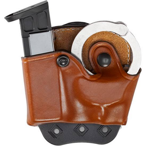 Aker Leather 519 D.M.S. Combo Mag And Handcuff Case A519TPRU-1