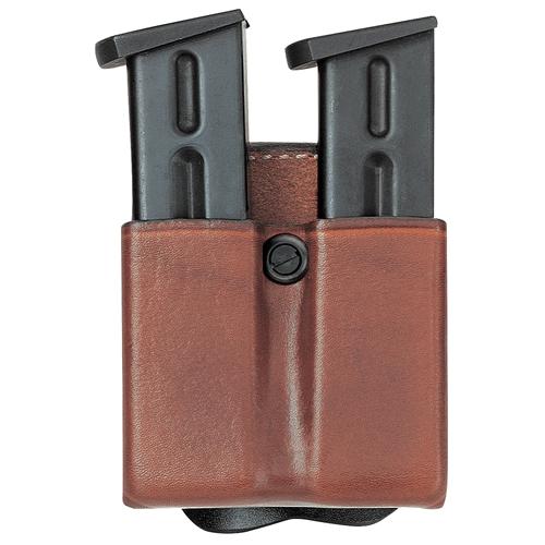 Aker Leather 523 D.M.S. Twin Double Magazine Pouch A523-BP-3 Black Plain 9/.40