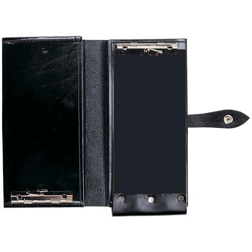 Aker Leather Double Citation Book Cover A581-BP Black Plain