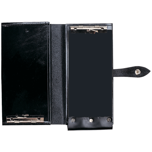 Aker Leather Double Citation Book Cover A581-BW Black Basket Weave