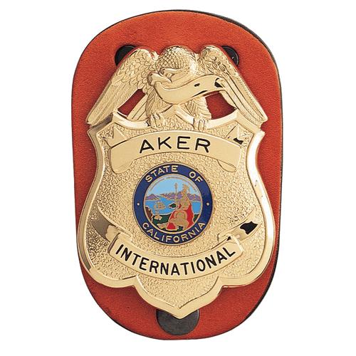 Aker Leather Clip-On Federal Badge Holder A590-TP
