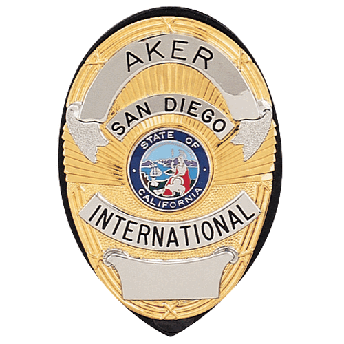 Aker Leather Clip-On Shield Badge Holder A591-TP Coyote Tan Plain Brass