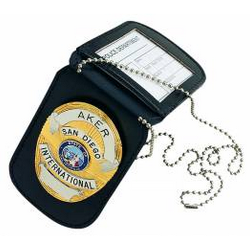 Aker Leather Neck Badge And Id Holder A597-BP