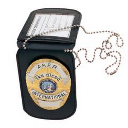 Aker Leather Neck Badge And Id Holder A597-TP
