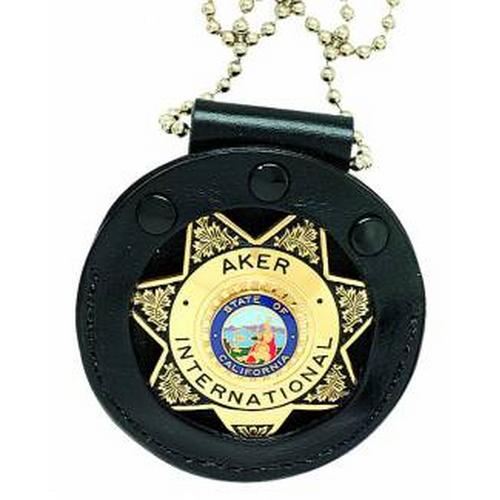 Aker Leather Neck Start Badge Holder A599-BP