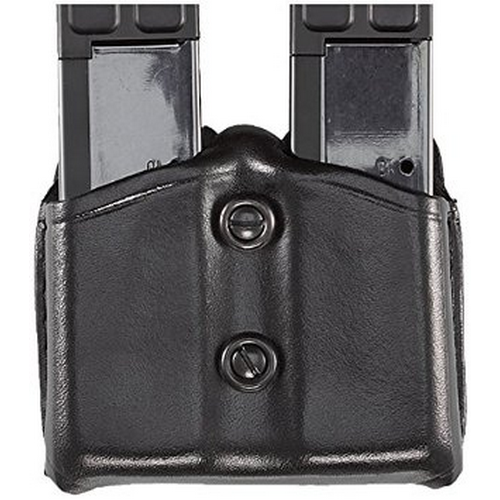 Aker Leather 616 Dual Magazine Carrier A616-BP-2 Black 9