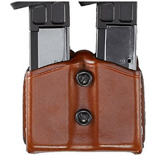 Aker Leather 616 Dual Magazine Carrier A616-TP-4 Tan Plain Double Stack .45
