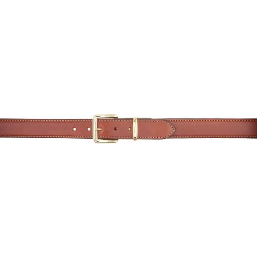 Aker Leather B21 Reinforced Dress-Gun Leather Lined Belt B21-TP-34 Tan Plain 34