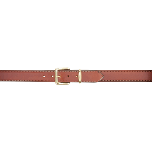 Aker Leather B21 Reinforced Dress-Gun Leather Lined Belt B21-TP-40 Tan Plain 40