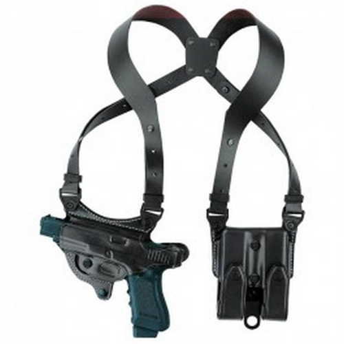 Aker Leather 107 Flatesider XR7 Shoulder Holster H107BPRU-MP 40C Black Smith & Wesson M&P 40C Right