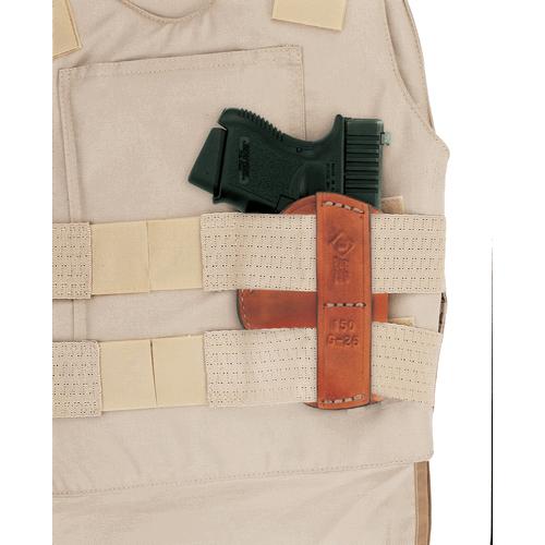Aker Leather 150 Hideout Vest Holster H150TPRU-GL2627