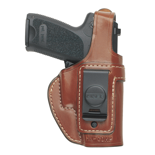 Aker Leather 160 Spring Special Executive Holster H160BPRU-GL1923 Black Glock 23 Right