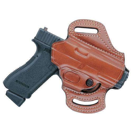 Aker Leather 168A Flatsider XR13 Strapless Open Top Holster H168ATPLU-G1923 Tan Glock 23 Left