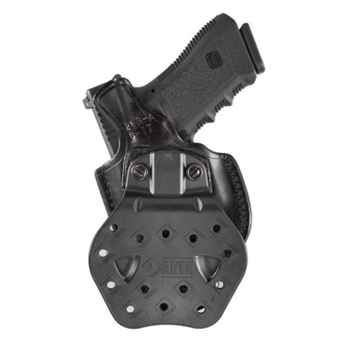 Aker Leather 268A Flatside Paddle XR19 Strapless Open Top Holster H268ABPRU-HK40C Black H&K USP 9C Right