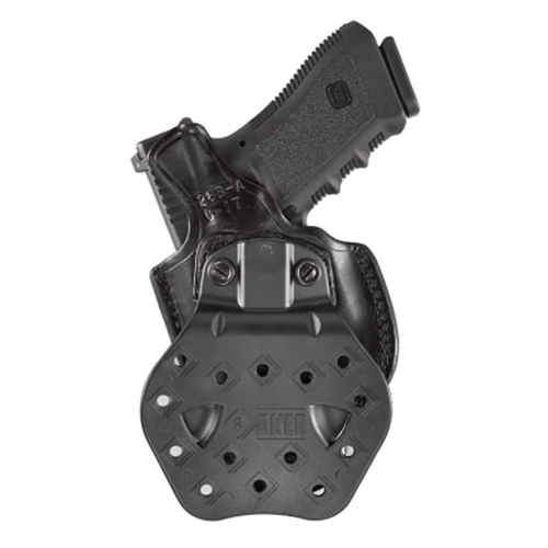 Aker Leather 268A Flatside Paddle XR19 Strapless Open Top Holster H268ABPRU-S320C Black Sig Sauer P320C Right