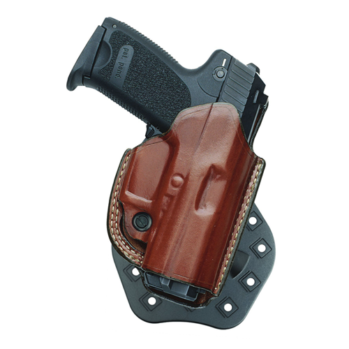 Aker Leather 268A Flatside Paddle XR19 Strapless Open Top Holster H268ATPLU-G1923 Tan Glock 23 Left