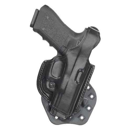 Aker Leather 268 Flatside Paddle XR17 Thumb Break Holster H268BPRU-GL1923 Black Glock 23 Right