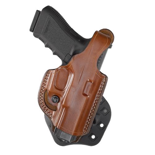 Aker Leather 268 Flatside Paddle XR17 Thumb Break Holster H268TPRU-GL1923 Tan Glock 23 Right