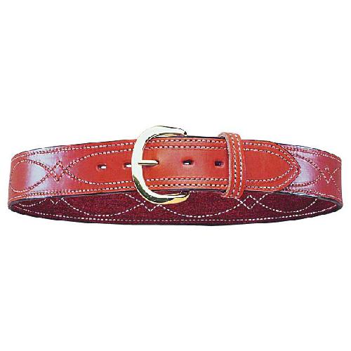 Bianchi Model B12 Reversible Fancy Stitched Belt 12870 Tan 36