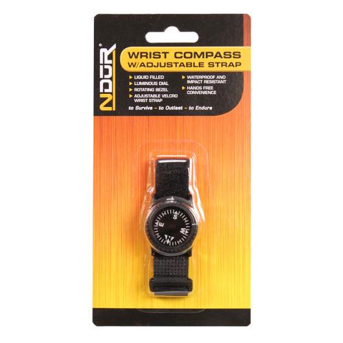 Proforce Equipment NDuR Wrist Compass with adjustable Strap Black  51650