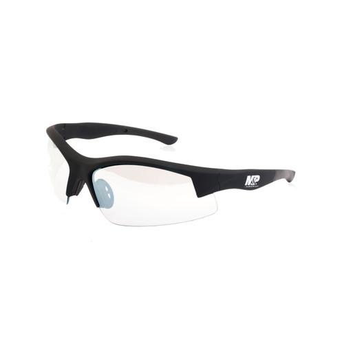 S&W M&P Super Cobra Shooting Glasses Black Frame Clear Mirrored Lens 110171