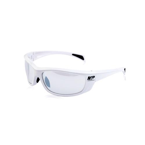 S&W M&P Whitehawk Shooting Glasses White Frames Clear Mirror Lens 110174