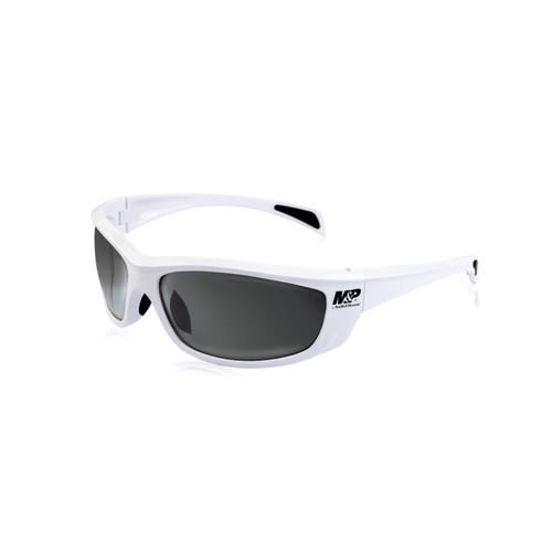 S&W M&P Whitehawk Shooting Glasses White Frames Smoke Mirror Lens 110172