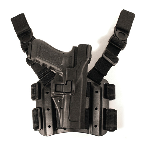 BLACKHAWK! Level 3 Tactical Serpa Holster 430603BK-R Black 03 Right
