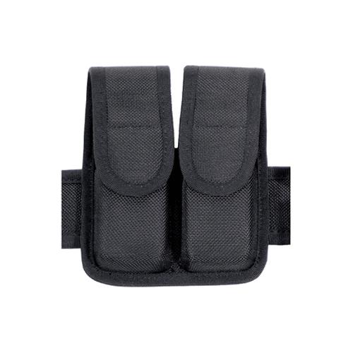 BLACKHAWK! Double Mag Pouch - Staggered Column 44A001BK Black Cordura