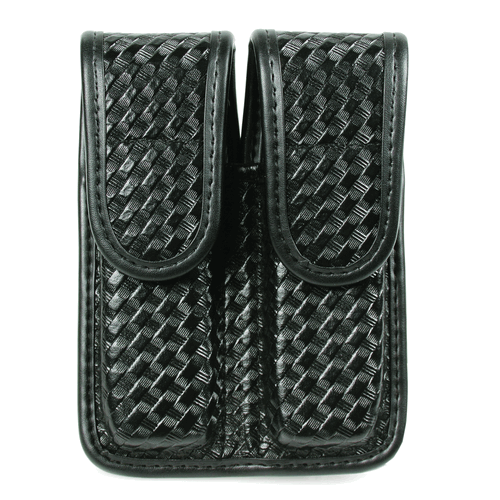 BLACKHAWK! Double Mag Pouch - Staggered Column 44A001BW Black Basket Weave