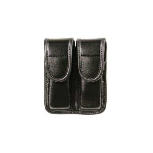BLACKHAWK! Double Mag Pouch - Staggered Column 44A001PL Black Plain