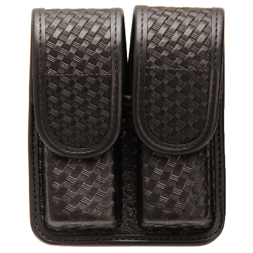 BLACKHAWK! Double Mag Pouch - Staggered Column 44A002BW Black Basket Weave