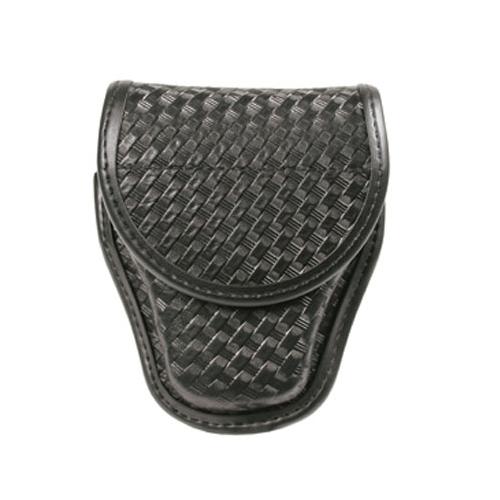 BLACKHAWK! Handcuff Pouch Single 44A100BW Black Basket Weave Standard Chain/Hinged Hidden