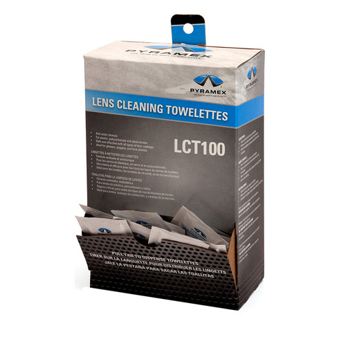 Pyramex Cleaning towelettes Pkg of 100  LCT100