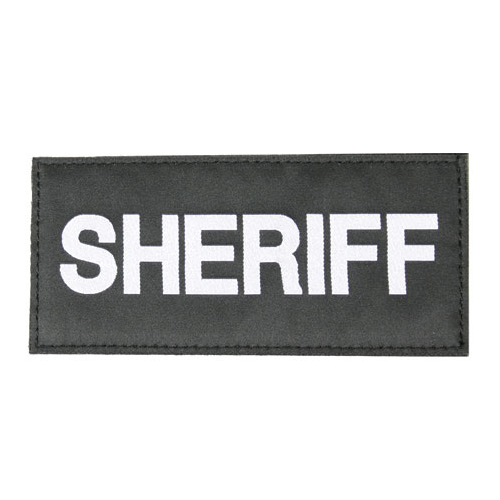 BLACKHAWK! Sheriff Patch 90IN06WB Black White