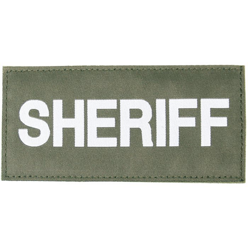 BLACKHAWK! Sheriff Patch 90IN06WG OD Green White