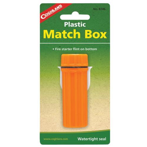 Coghlans Plastic Match Box Orange 8746