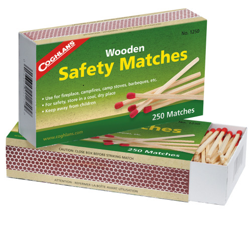 Coghlans Wooden Safety Matches 2-Pack 1250