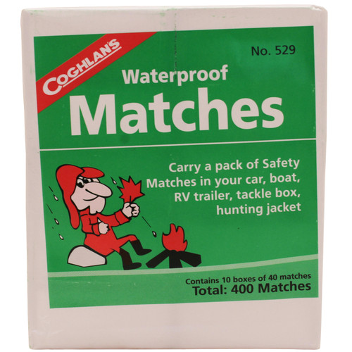 Coghlans Waterproof Matches 10-Box Pack 529