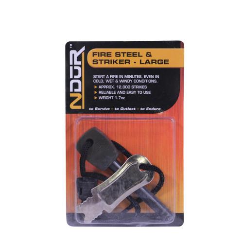 Proforce Equipment Fire Steel and Striker Large Black 21305