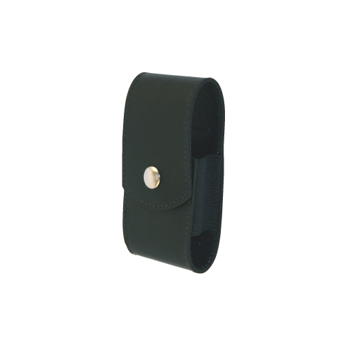 Boston Leather Firefighters Pager Holder 5581-1 Black Plain Snap