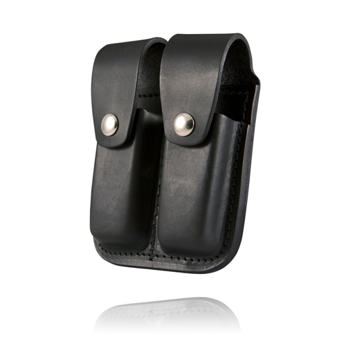 Boston Leather Clip Pouch. Double For 45Mm 5602-1