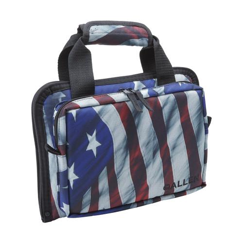Allen Cases Duplex Victory Attache Handgun Case USA Flag  7609